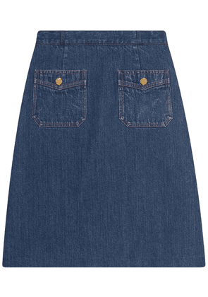 Gucci A-line denim mini skirt - Blue
