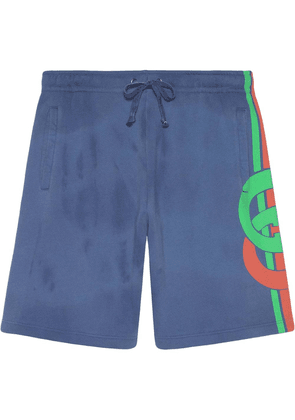 Gucci Shorts with Interlocking G print - Blue