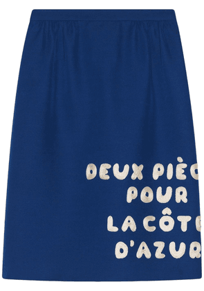 Gucci Wool-silk skirt with patch - Blue