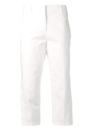 Jil Sander classic cropped trousers - White