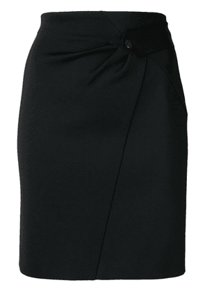 Givenchy pleat detail skirt - 001 Black