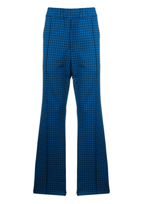 Marni check print trousers - Blue