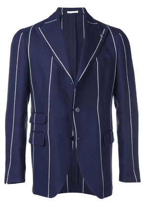 Gabriele Pasini stripe fitted blazer - Blue