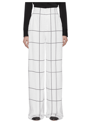 'Berneen' windowpane check wide leg pants