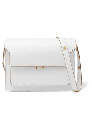 Marni - Trunk Large Textured-leather Shoulder Bag - Cream