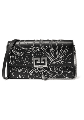 Givenchy - Charm Studded Leather Shoulder Bag - Black