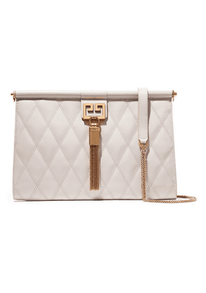Givenchy - Gem Medium Quilted Leather Shoulder Bag - Beige