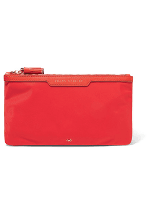 Anya Hindmarch - Filing Cabinet Leather-trimmed Shell Pouch - Red