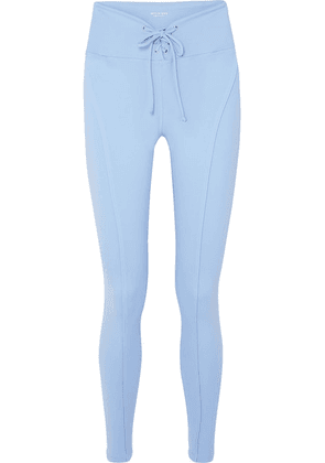 Year of Ours - Football Lace-up Stretch Leggings - Light blue