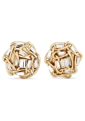 Rosantica - Gold-tone Crystal Clip Earrings - one size