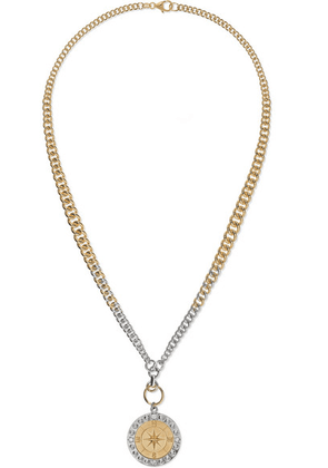 Foundrae - Course Correction 18-karat White And Yellow Gold Diamond Necklace - one size