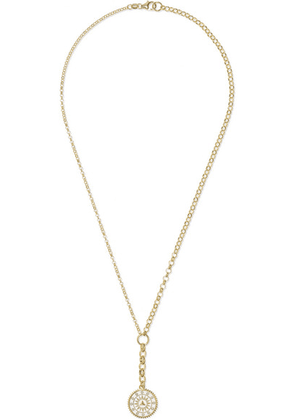 Foundrae - Pyramid 18-karat Gold, Diamond And Enamel Necklace - one size