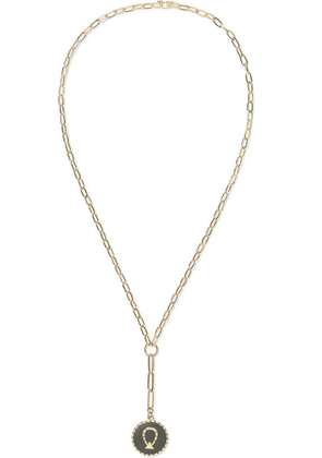 Foundrae - Horseshoe 18-karat Gold, Enamel And Diamond Necklace - one size