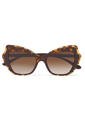 Dolce & Gabbana - Cat-eye Tortoiseshell Acetate Sunglasses - one size
