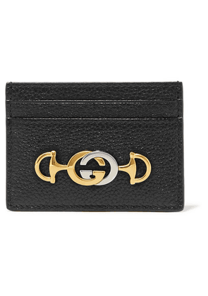 Gucci - Zumi Embellished Textured-leather Cardholder - Black