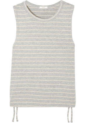 Eberjey - Logan Striped Ribbed Stretch-jersey Tank - Gray
