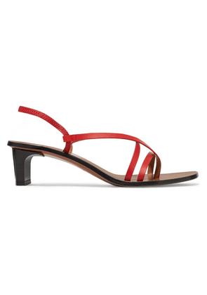 ATP Atelier - Nashi Leather Slingback Sandals - Red