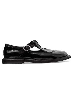 Burberry - Patent-leather Loafers - Black