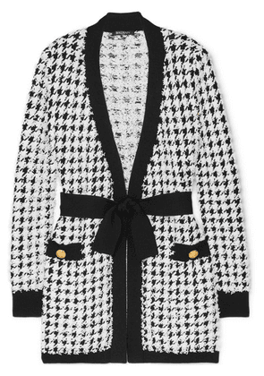 Balmain - Houndstooth Bouclé-tweed Cardigan - Black