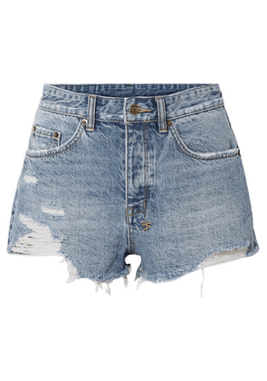 Ksubi - Tongue N Cheek Distressed Denim Shorts - Mid denim