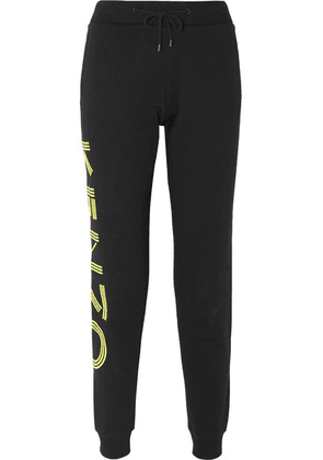 KENZO - Printed Cotton-jersey Track Pants - Black