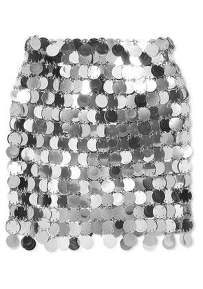 Paco Rabanne - Sequined Mini Skirt - Silver