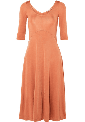 Acne Studios - Delana Metallic Stretch-jersey Dress - Peach