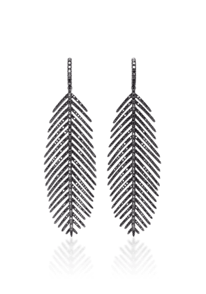 Sidney Garber Feathers that Move Earrings