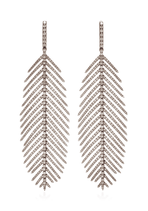 Sidney Garber Diamond Feathers That Move Earrings