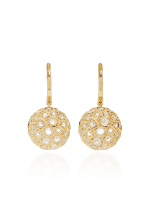 Sidney Garber Honeycomb Earrings In Yellow Gold