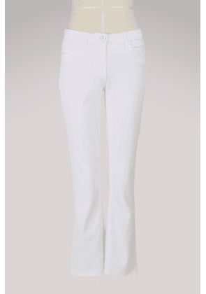 W25 mid-rise cropped flared jeans