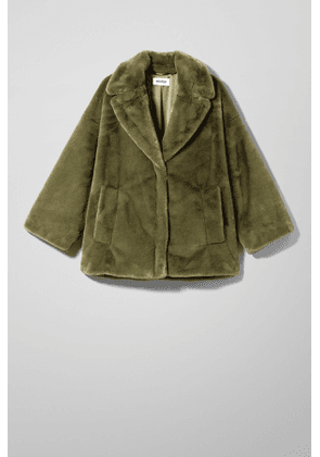 Tabitha Faux Fur Jacket - Green