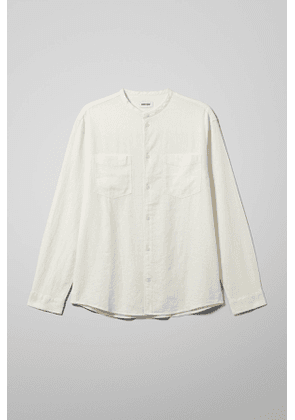 Curly Linen Shirt - White