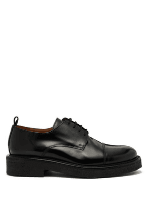 Ami - Rubber Sole Leather Derby Shoes - Mens - Black