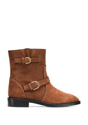 Stuart Weitzman - The Hale Bootie In Saddle Brown - Size 37.5