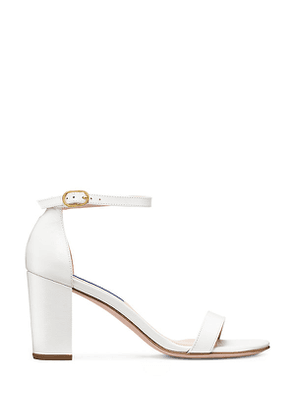Stuart Weitzman - The Nearlynude Sandal In White - Size 41