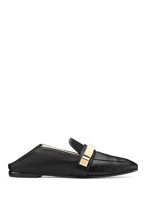 Stuart Weitzman - The Wylie Pyramid Loafer In Black - Size 39