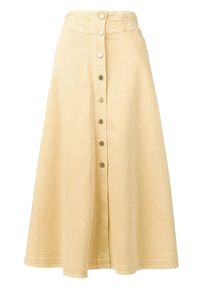 Dorothee Schumacher flared midi skirt - Yellow
