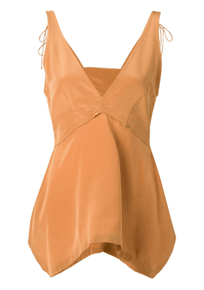 Dorothee Schumacher asymmetric sleeveless top - Brown