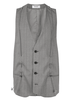 Chalayan classic tailored vest - Grey