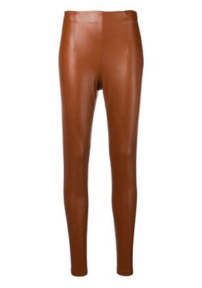 Dorothee Schumacher leather effect leggings - Brown