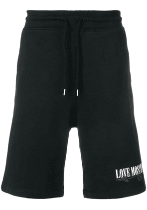 Love Moschino embroidered detail shorts - Black