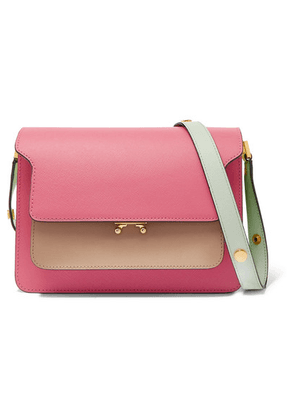 Marni - Trunk Small Color-block Textured-leather Shoulder Bag - Pink