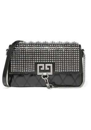 Givenchy - Charm Crystal-embellished Quilted Leather Shoulder Bag - Black