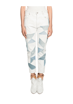 Lea Patchwork Ankle Skinny Jeans