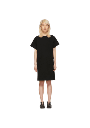 Chimala Black French Terry Dress