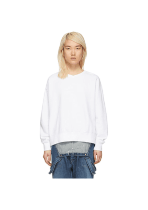 Chimala White V-Neck Sweatshirt
