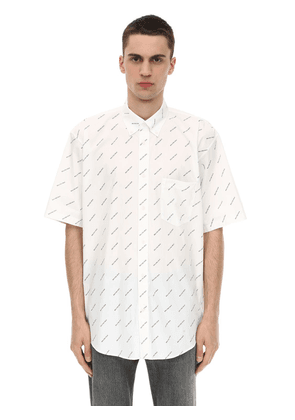 Logo Printed Short Sleeve Shirt