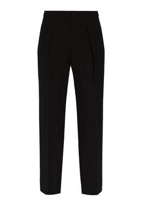 Connolly - Mid Rise Crepe Tuxedo Trousers - Mens - Black