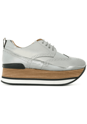 Hogan platform brogues - Metallic
